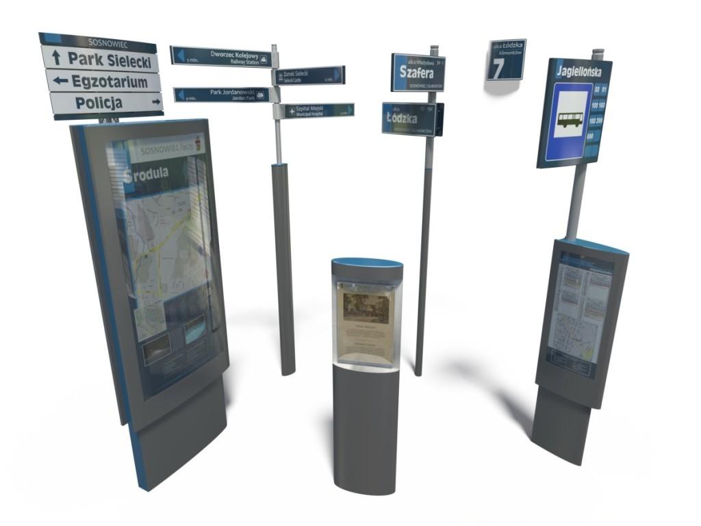 System informacji miejskiej w Sosnowcu - propozycja plastyczna