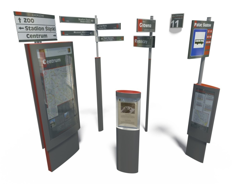 System informacji miejskiej w Chorzowie - propozycja plastyczna