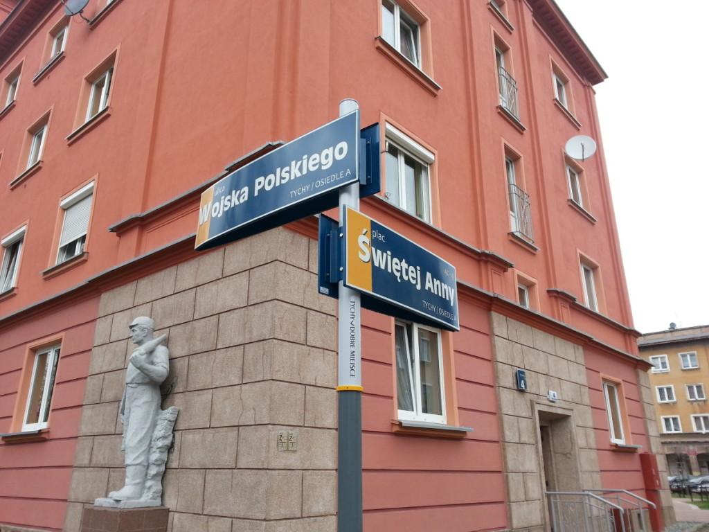 System informacji miejskiej w Tychach - tabliczki z nazwami ulic